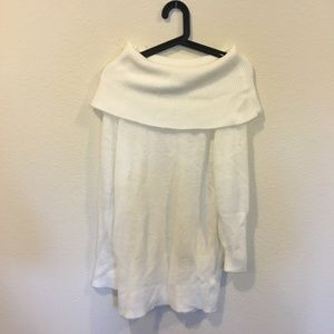 Impeccable Pig white off shoulder sweater dress
